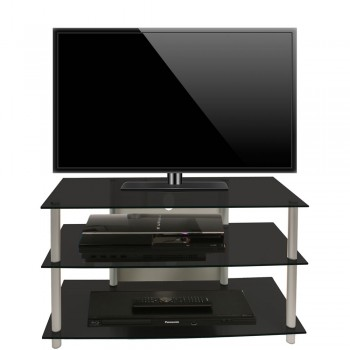 VCM LCD LED TV Rack Sindas Schwarzglas