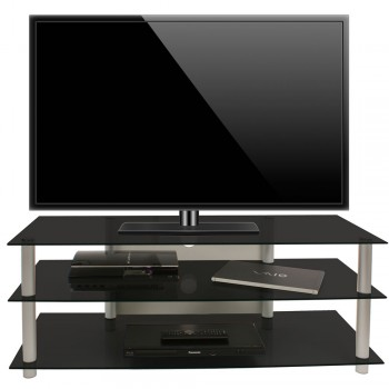 VCM LCD LED TV Rack Zumbo 110 Schwarzglas