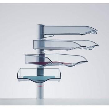 Novus vier Ablageschalen CopySwinger IV mit Zwingenbefestigung l Lichtgrau