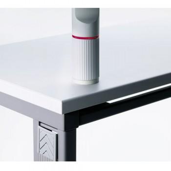 Novus Kunststoffschraubplatte Silber / Anthrazit