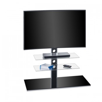 Maja 1630 TV-Rack für Monitore bis 55 Zoll Schwarzglas