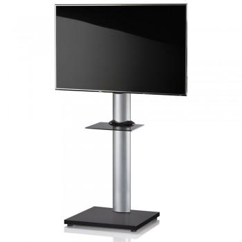 VCM Onu TV Standfuß für Monitore von 32 - 70 Zoll Schwarzlack / mit Glaszwischenboden