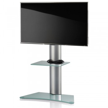 VCM Findal TV Standfuß für Monitore von 22 - 37 Zoll Mattglas / mit Glaszwischenboden