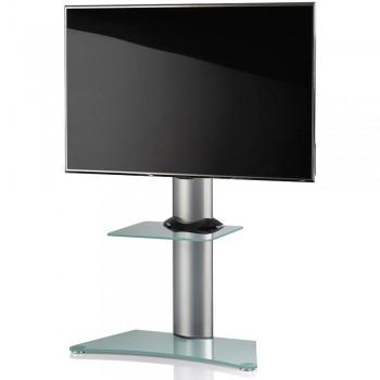 VCM Zental TV Standfuß für Monitore von 32 - 70 Zoll Mattglas / mit Glaszwischenboden