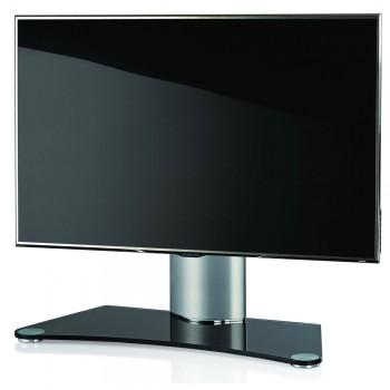 VCM Windoxa Mini Tisch Standfuß für Monitore von 22-37 Zoll Schwarzglas
