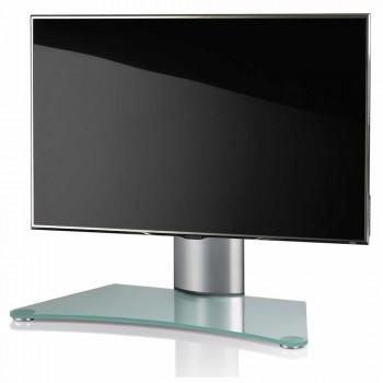 VCM Windoxa Mini Tisch Standfuß für Monitore von 22-37 Zoll Mattglas