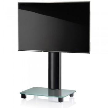 VCM Tosal TV Standfuß für Monitore von 32 - 70 Zoll ohne Glaszwischenboden / Schwarz/Mattglas