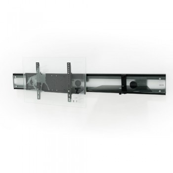 Wandsäule mit Ablage für Plasma LCD Monitore Cadiz Mattglas