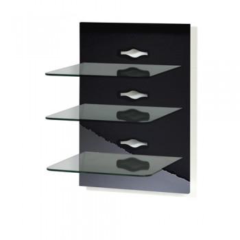 VCM Xeno 3 Paneelserie für AV Geräte Schwarzlack/Klarglas