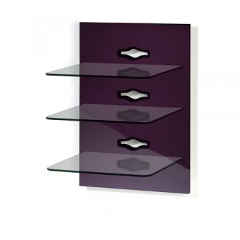 VCM Xeno 3 Paneelserie für AV Geräte Pflaume/Klarglas