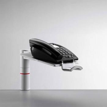 Novus PhoneMaster Telefon Schwenkarm für große Geräte Lichtgrau