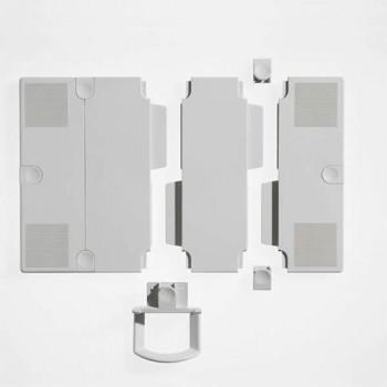 Novus Erweiterungsplatten für Telefontragarme Silber / Anthrazit
