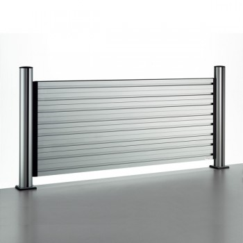 Novus Trennwand SlatWall 120 Komplettlösung Länge 120 cm