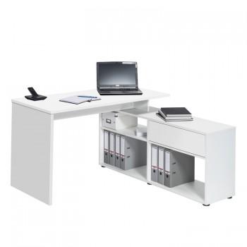 Schreib- und Computertisch 4019 Weiß