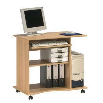 Computertisch 4024 mit Tonnenprofil Buche