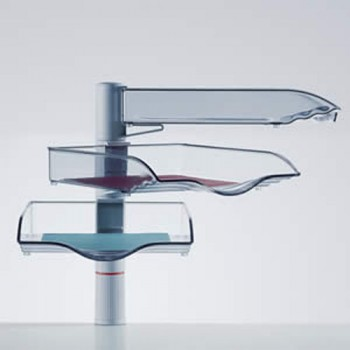 Novus drei Ablageschalen CopySwinger III mit Zwingenbefestigung Lichtgrau