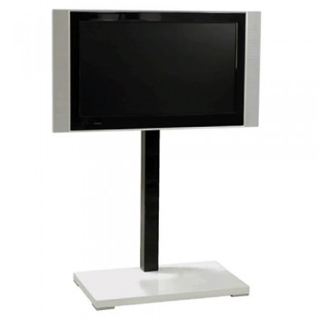 Standsäule für Plasma LCD Bildschirme Elia 115A Boden Silber - Säule Schwarz