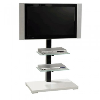 Standsäule für Plasma   LCD Bildschirme Elia 115B Silber / Schwarz