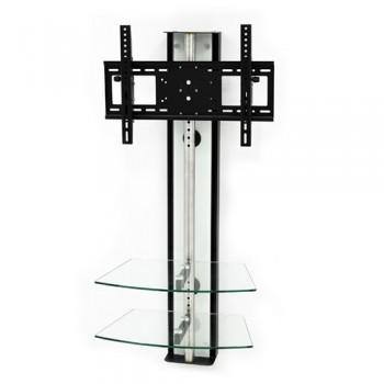 Wandsäule mit Ablagen für Plasma LCD Monitore Oviedo Weißglas