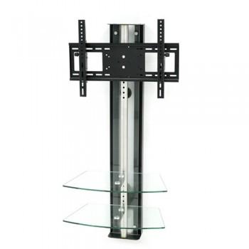 Wandsäule mit Ablagen für Plasma LCD Monitore Oviedo Mattglas