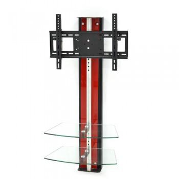 Wandsäule mit Ablagen für Plasma LCD Monitore Oviedo Rotglas