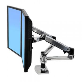Ergotron LX-Tischhalterung für 2 Monitore nebeneinander