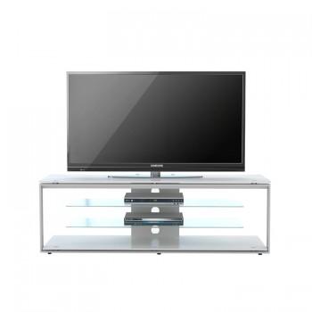 Maja TV-Rack 5200 1300 mm Breite Metall platingrau - Glas Sand
