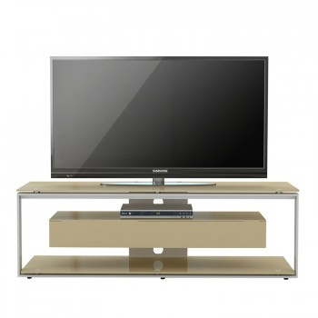 Maja TV-Rack 5202 mit 1 Klappe Push-to-open Metall anthrazit - Weißglas