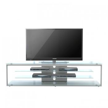 Maja TV-Rack 5204 1700 mm Breite Metall platingrau - Weißglas