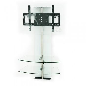 Wandsäule mit Ablagen Cinetron für 32 - 60 Zoll Monitore Weiß