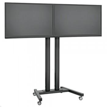 LCD LED Duo Rollwagen Trolley für Displays bis 48 Zoll 150 cm
