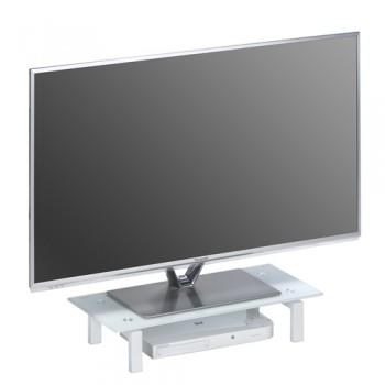 Maja 1602 TV-Glasaufsatz 600mm Breite Weißglas