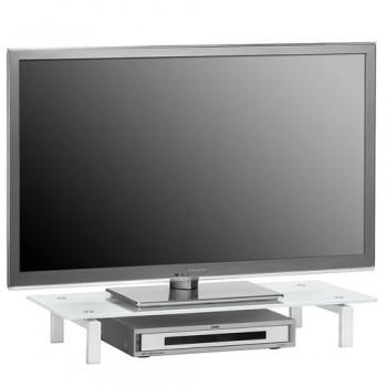 Maja 1603 TV-Glasaufsatz 820mm Breite Weißglas