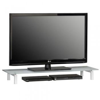 Maja 1605 TV-Glasaufsatz 1100mm Breite Weißglas