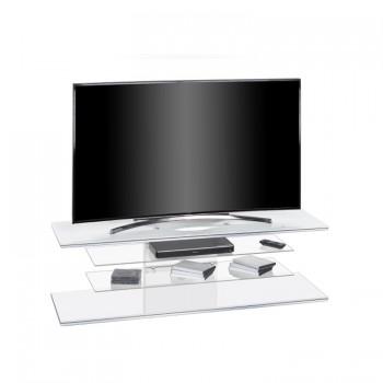 Maja TV-Rack 7725 1400 mm Breite Weißglas