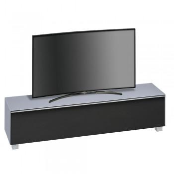 Lowboard SoundConcept mit Akustikstofffront Breite 180 cm Glas Himmelblau matt