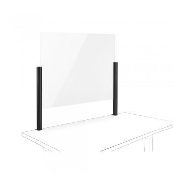 Novus Acryl-Glas-Trennwand 75x50 mit Systemzwinge