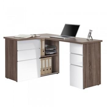 Computer- und Schreibtisch 9543 mit Einlageböden Eiche Sägerau