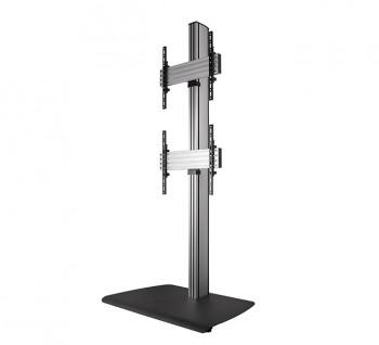 B-Tech Dual TV Standfuß BTF841 Schwarz/Silber