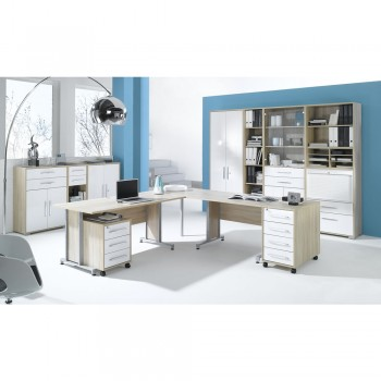Büro SYSTEM Set 1205 mit Push-To-Open Klarglastüren