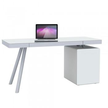 Computertisch 5004 mit Push-to-open Weißglastür