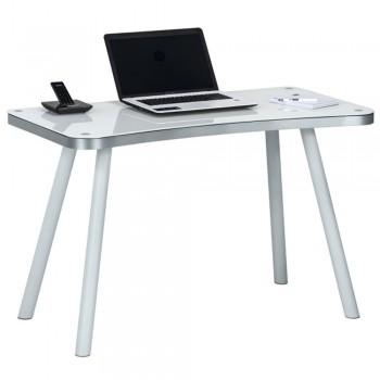 Computer- und Schreibtisch 6666 mit konkav gerundeter Schreibkante