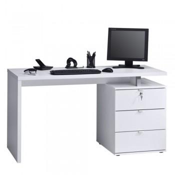 Computer- und Schreibtisch 4056 mit verschließbaren Schubladen