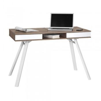 Computer- und Schreibtisch 4087 mit Ablagefach Eiche