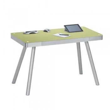Computer- und Schreibtisch 5000 mit Notebook Schublade Grün