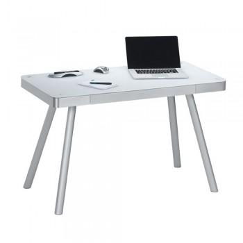 Computer- und Schreibtisch 5000 mit Notebook Schublade Weiß