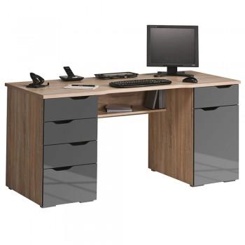 Computer- und Schreibtisch 9539 mit integrierten Schubladen Sonoma-Eiche