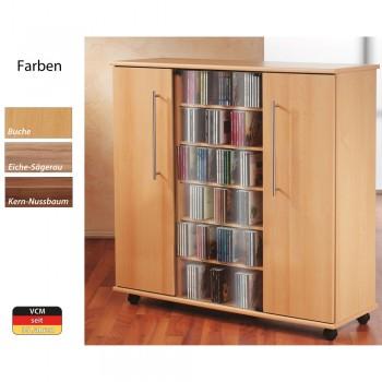 CD DVD Schrank VCM Luxor