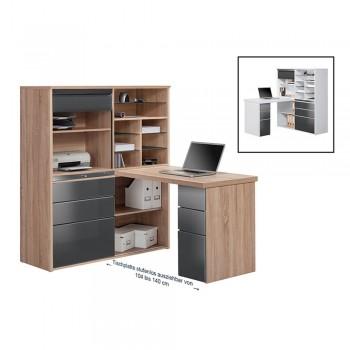 MiniOffice 9565 mit ABS-Kanten Grau Hochglanz