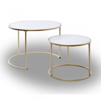 Jahnke Sol Coffee Couchtisch-Set, Gold
